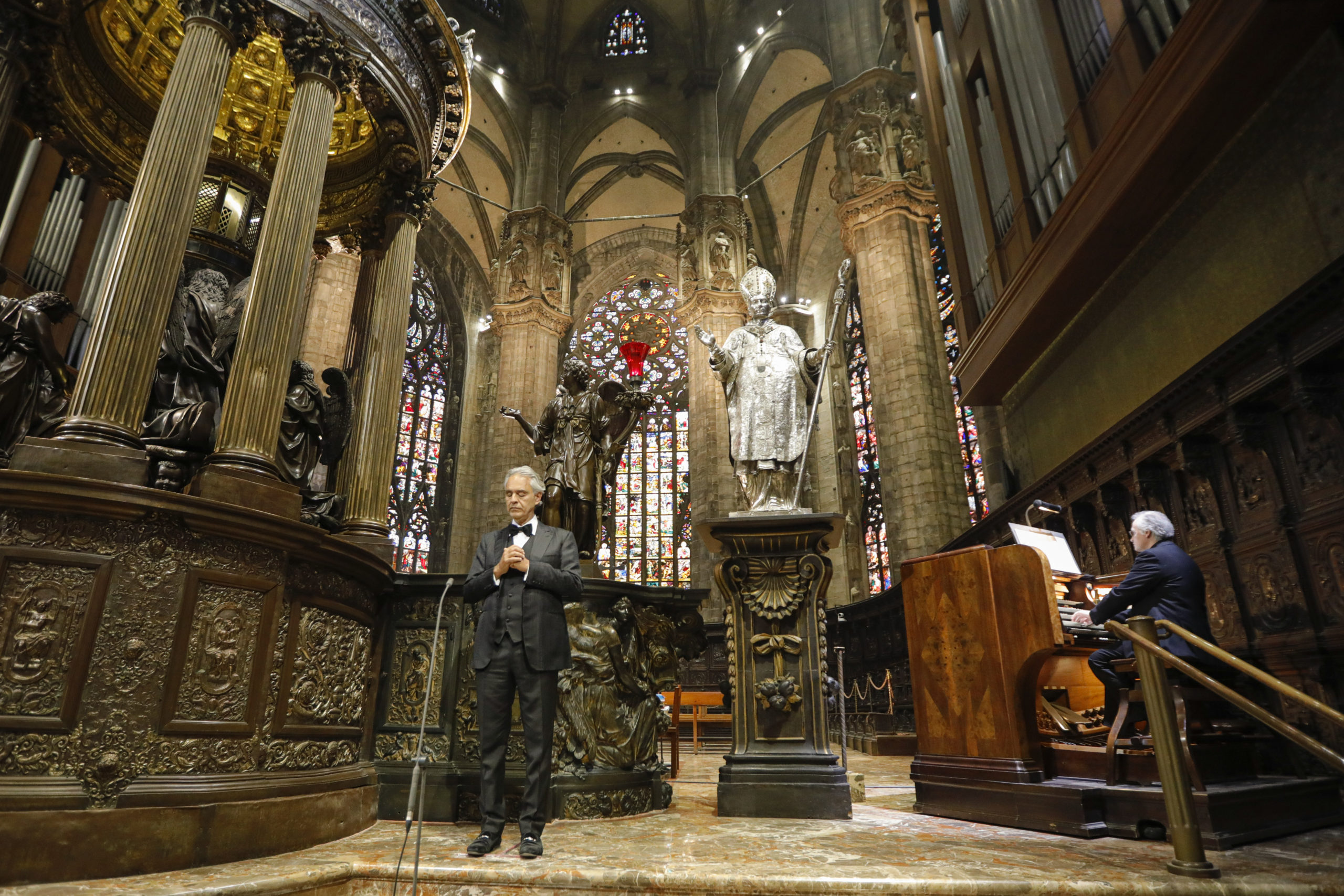 Andrea Bocelli apresenta-se no Duomo de Milano - Foto: Lucca Rossetti/Decca Records