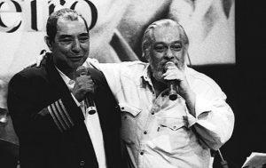João Nogueira e seu mais constante parceiro, Paulo César Pinheiro - Foto: Acervo Pessoal