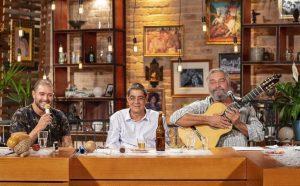 Com Diogo Nogueira e Zeca Pagodinho no pragrama Samba na Gamboa - Foto: Kamyla Abreu/TV Brasil