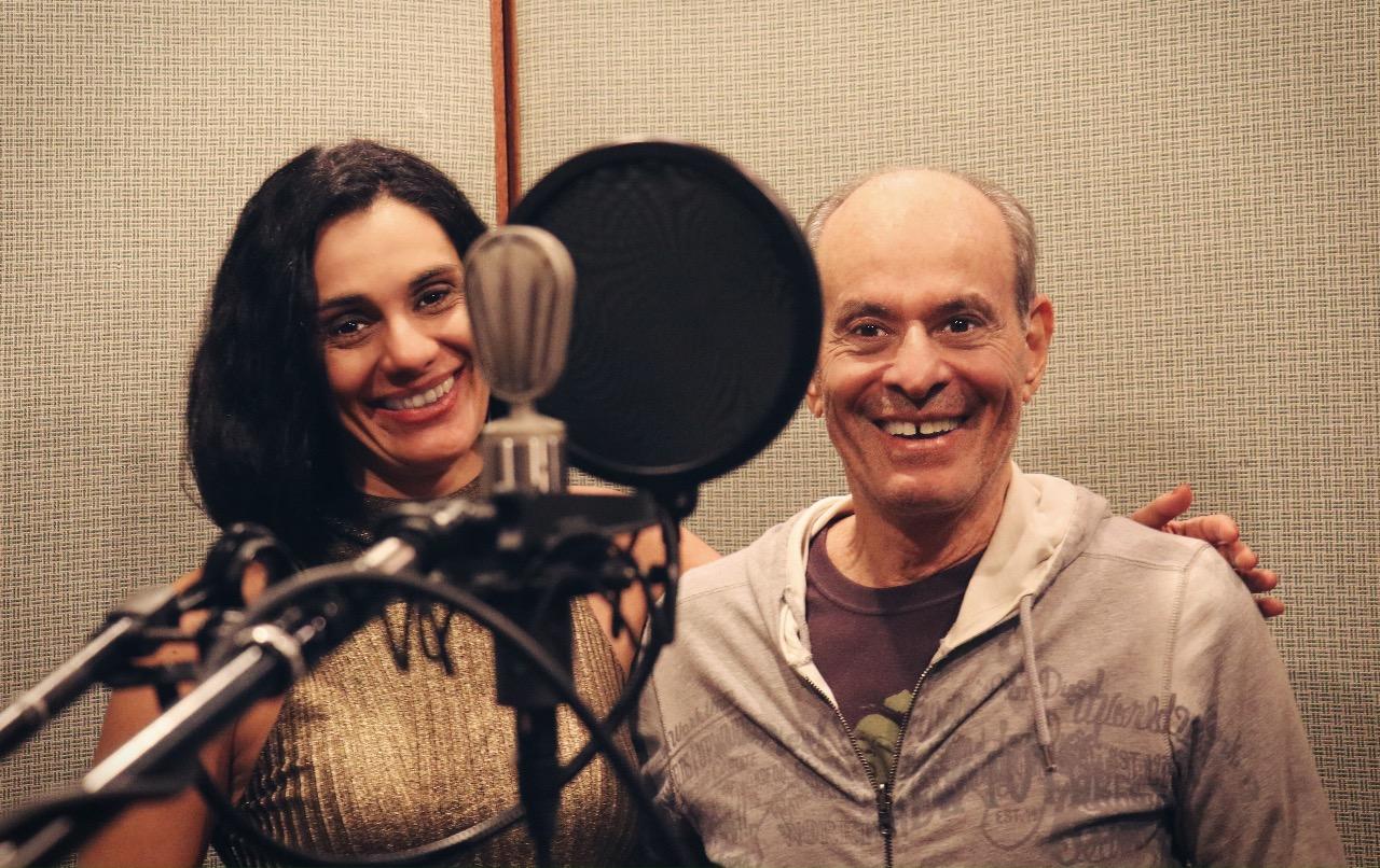 Ney Matogrosso e Fernanda Cabral no estúdio - Foto: André Amaro