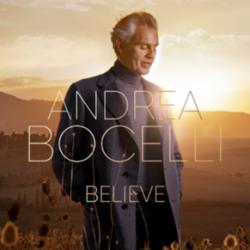Capa do álbum 'Believe', de Andrea Bocelli, que chega às plataformas digitais em 13 de novembro - Foto: Divulgação