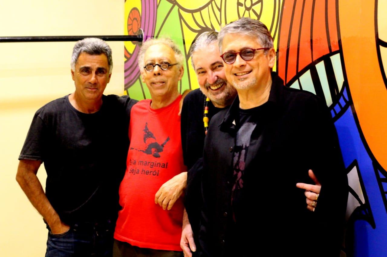 Guinga, Jards Macalé, Moacyr Luz e Zé Renato - Foto: Marluci Martins