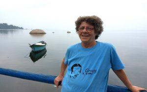 Cristina Buarque em seu refúgio na bucólica Paquetá - Foto: Reprodução