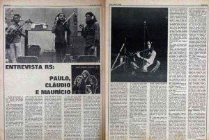 Entrevista de página dupla da Rolling Stone Brasil em edição de 1972 - Foto: Acervo Pessoal