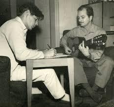 Luiz Bonfá compondo com Tom Jobim - Foto: Reprodução