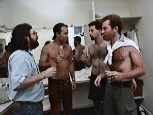 Fortes com Herbert, Barone e Bi nos bastidores de um shows dos Paralamas nos anos 1980 - Foto: Acervo Pessoal