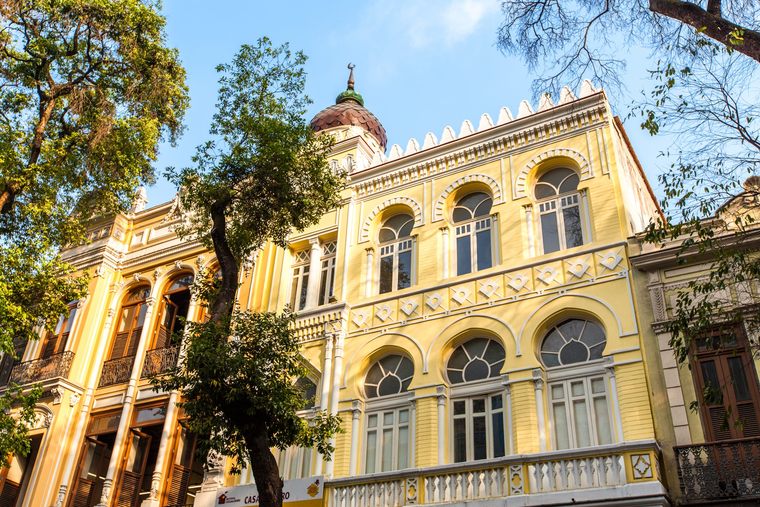 Fachada da Casa do Choro, localizada na Rua da Carioca, com Centro do Rio - Foto: Fabiano Battaglin