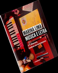 Capa do songbook 'Música e Letra', que reúne letras e partituras de 175 canções de Marina Lima - Foto: Divulgação