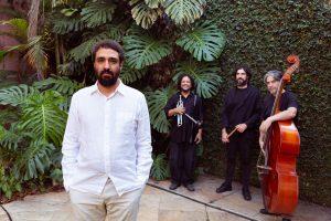 André Balboni e os músicos que formam o quarteto que gravou o álbum