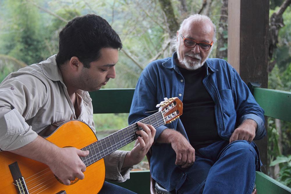 Lucas Bueno e Paulo César Feita, uma parceria nascida durante a pelada mas fora das quatro linhas - Foto: Denilson Siqueira