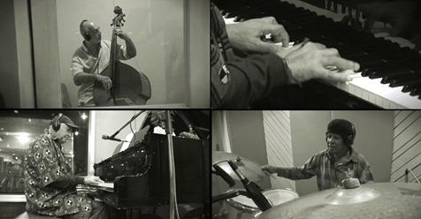 João Donato, Robertinho Silva e Luiz Eça em ação durante a gravação de 'Amazonas', faixa icônica do álbum 'Sambolero' - Foto: Reprodução